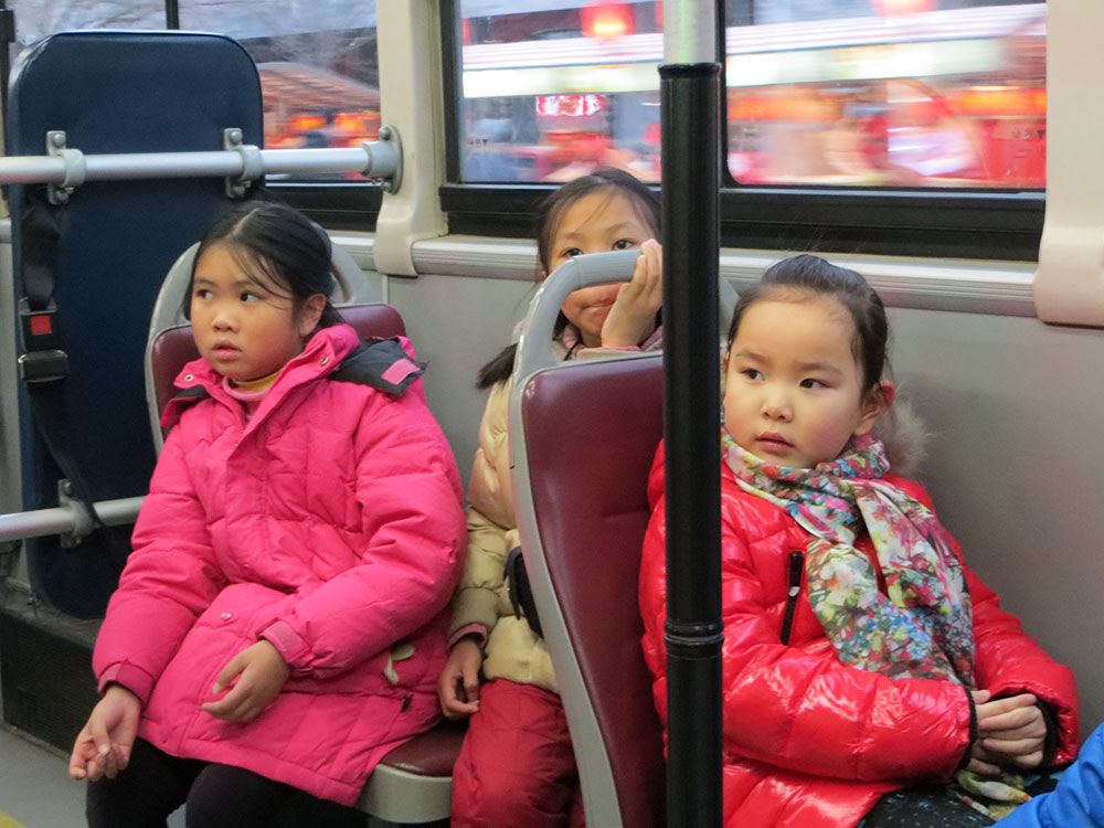 enfants chine bus
