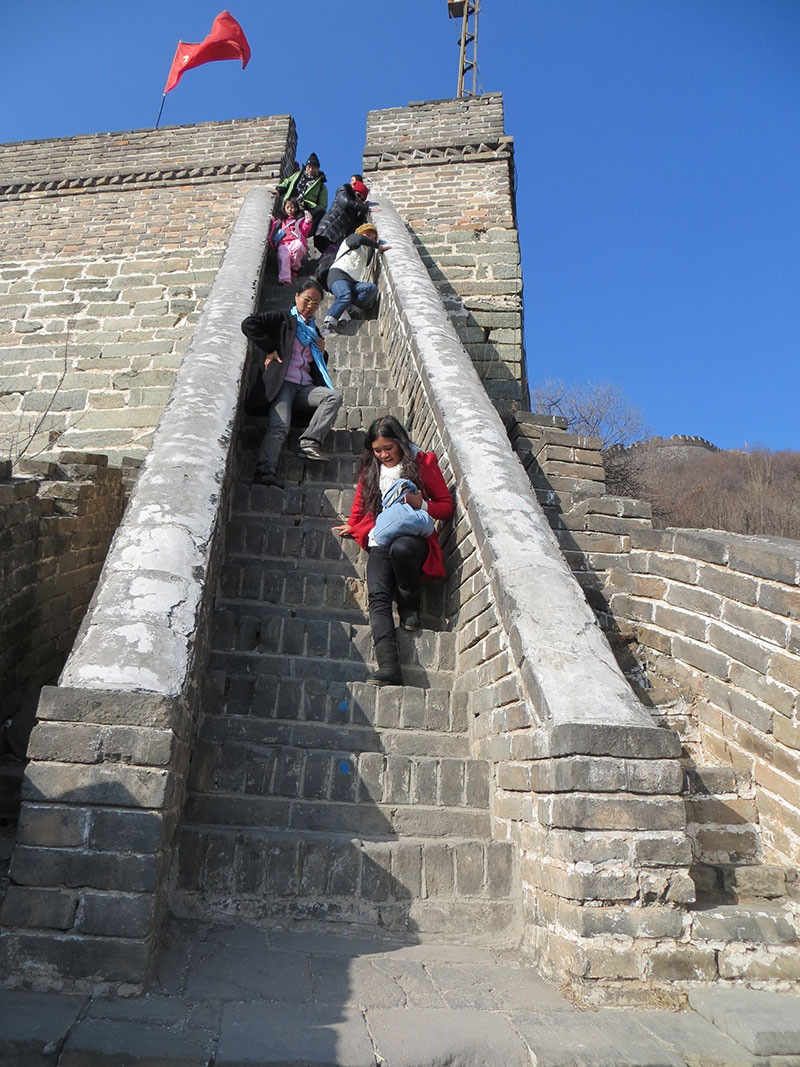 chinois escaliers muraille
