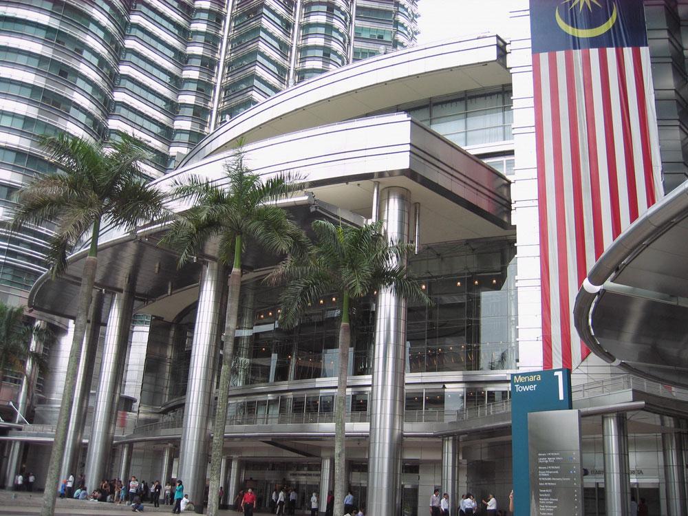 Entrée des tours Petronas