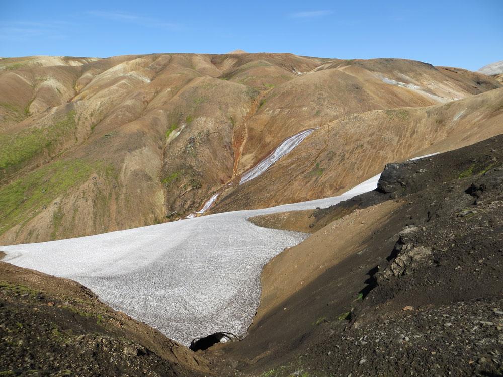 Névé de glace en Islande