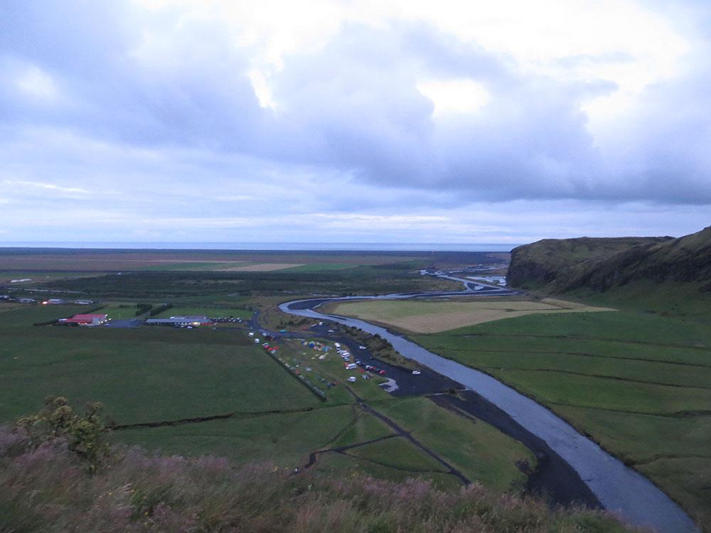Paysage depuis le haut de Skogafoss