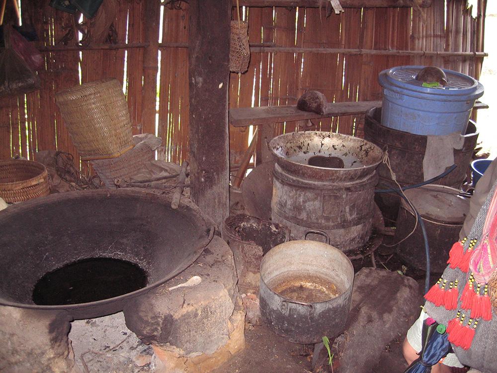 Intérieur d'une maison Hmong