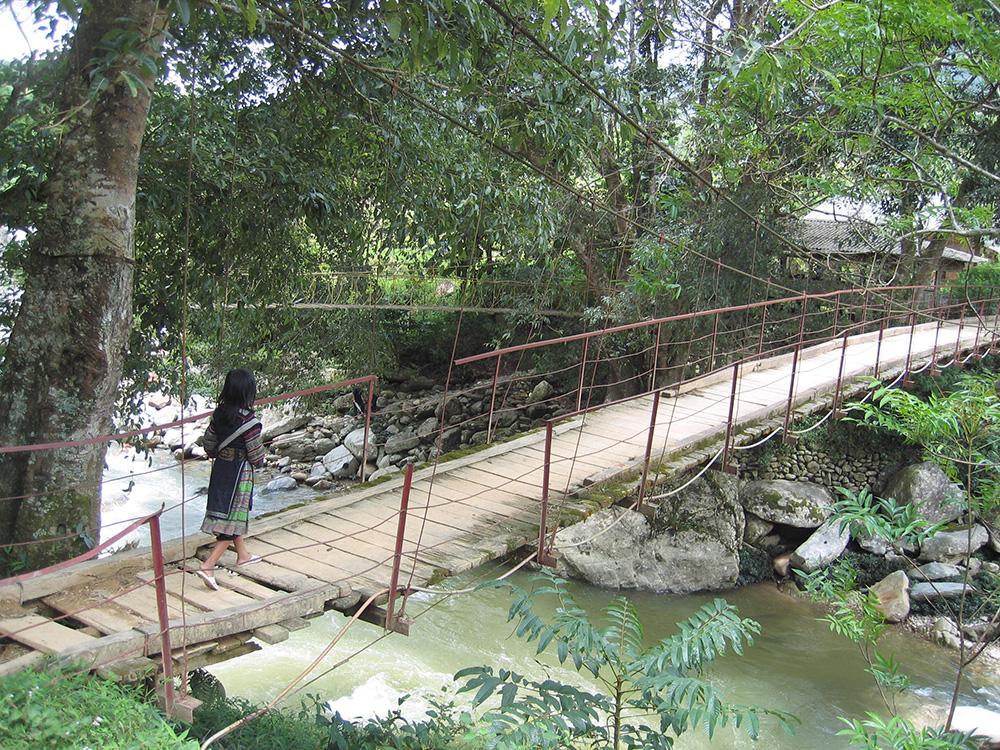 Pont lors du trek