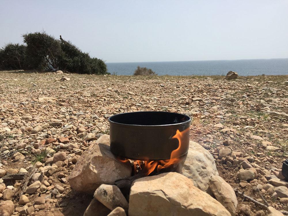 Repas sur le feu