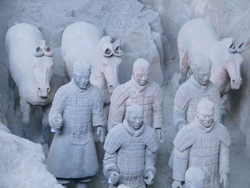 terracota warriors and horses