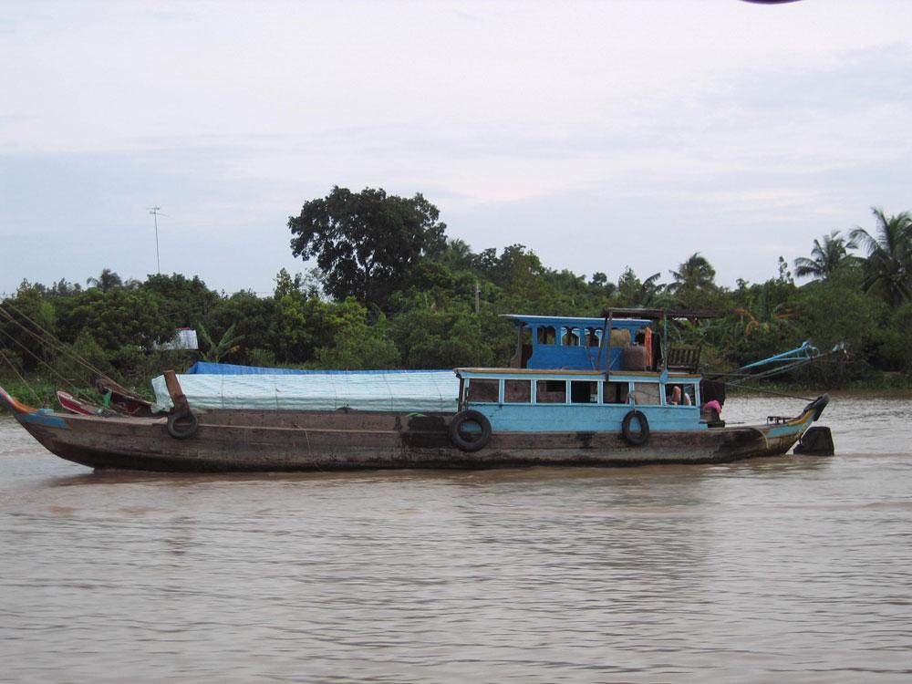 Bateau sur le fleuve Mékong