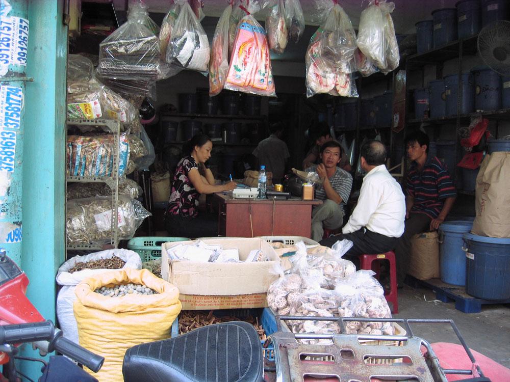 Discussion au Vietnam