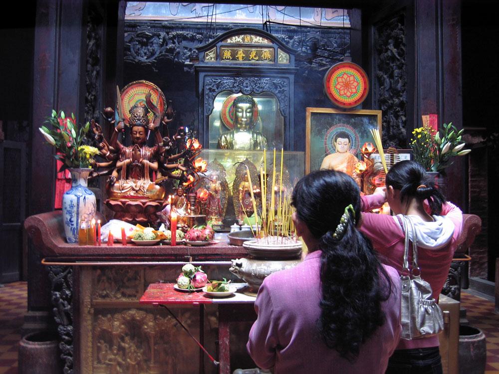 Intérieur du Temple de Jade