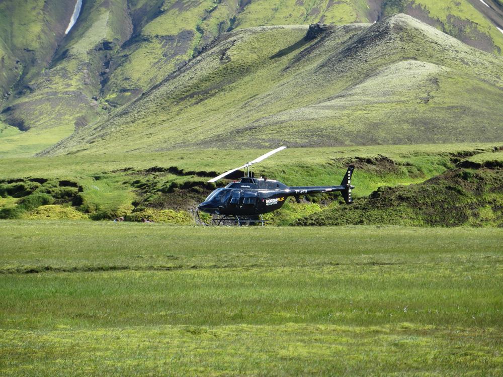 Tour d'hélicoptère en Islande