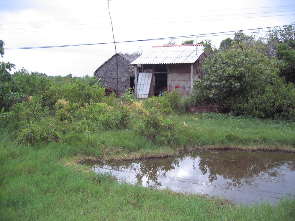 Maison et bassin au Vietnam