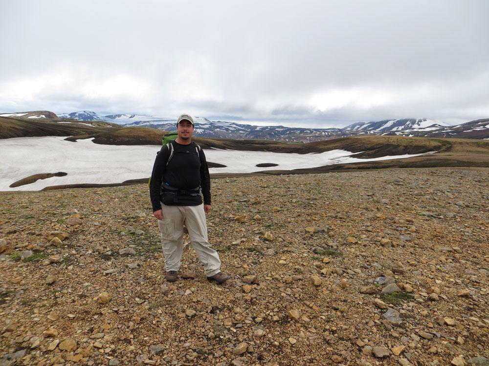 Trek avec sac à dos du Landmannalaugar