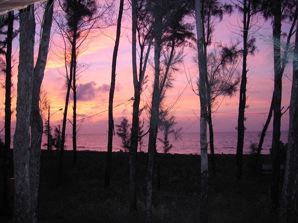Soleil levant sur le delta du Mékong