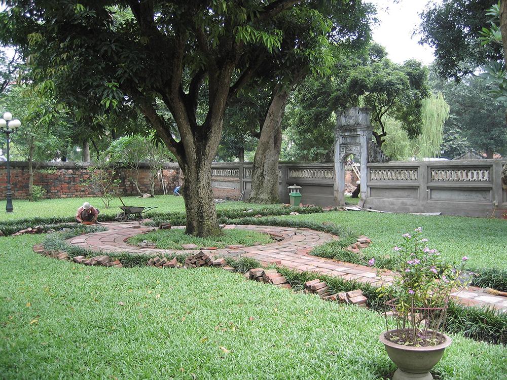 Jardin du temple de la littérature
