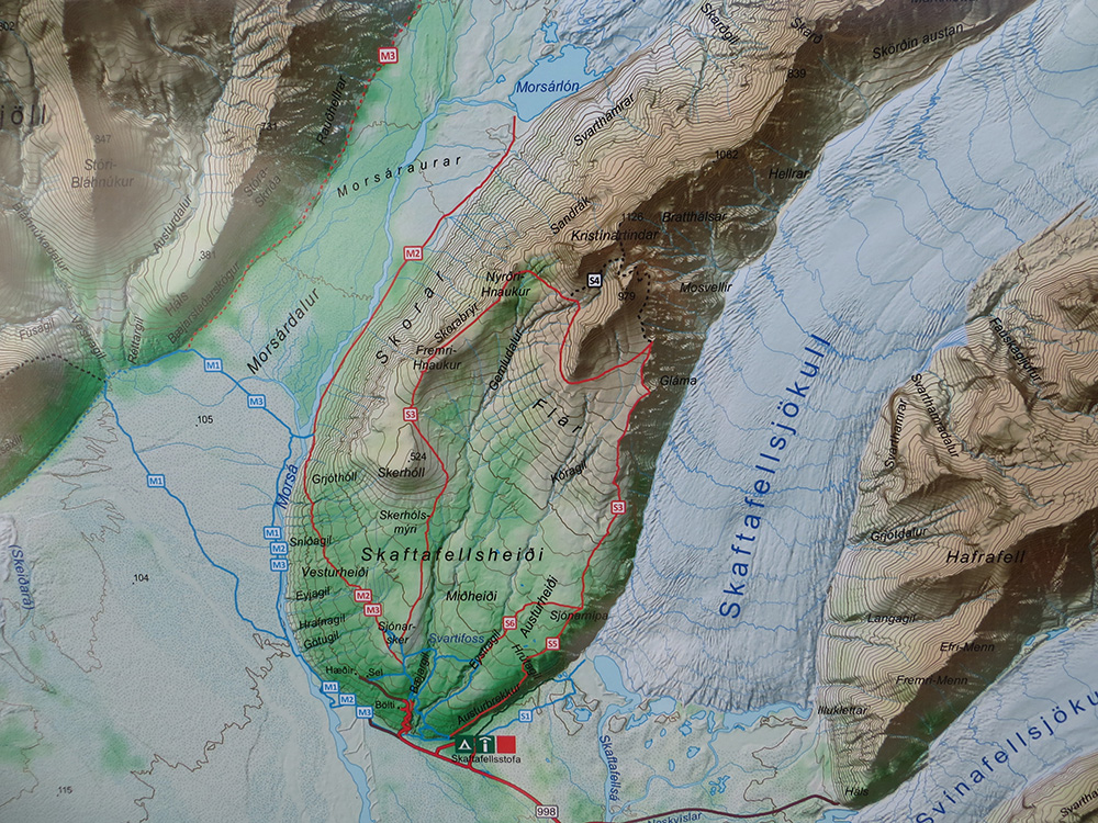 Carte Skaftafell Map