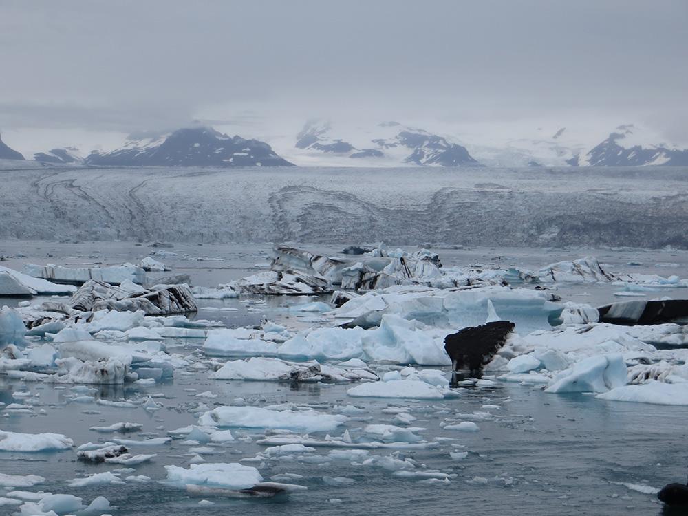 Iceberg descendant un glacier