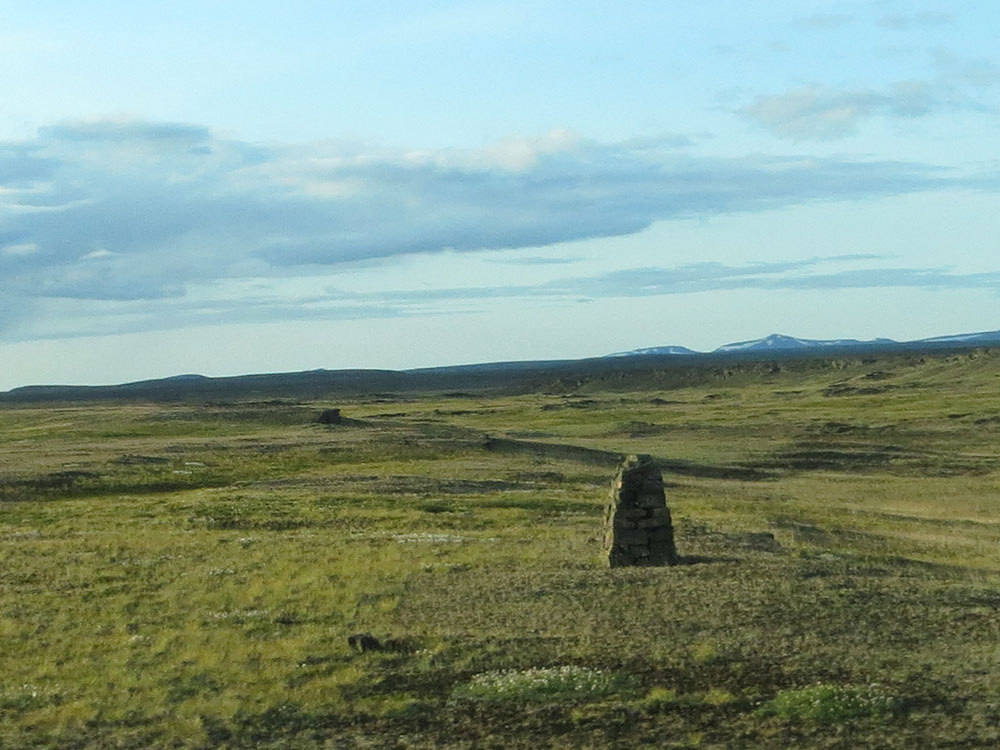 Bornes route 1 en Islande