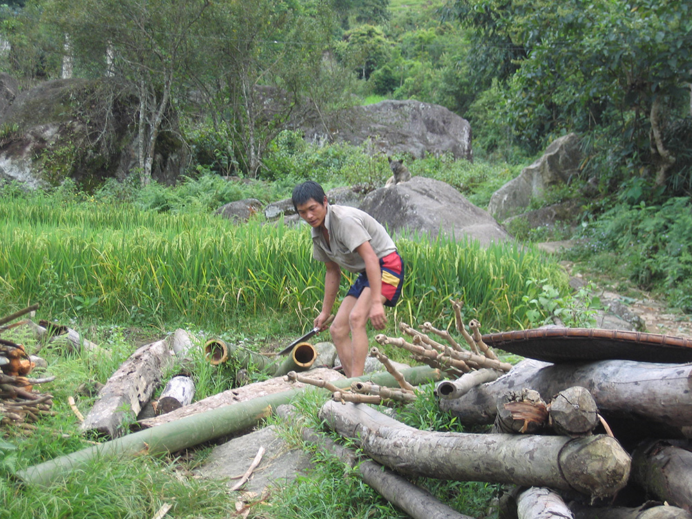 Ouvrier au Vietnam
