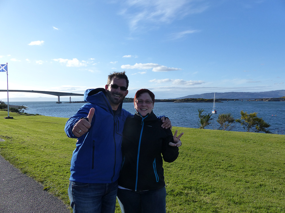 Couple de touristes en Ecosse