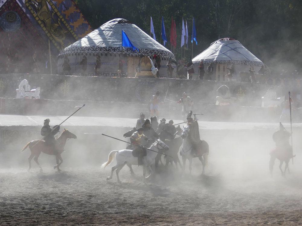 Bataille à cheval