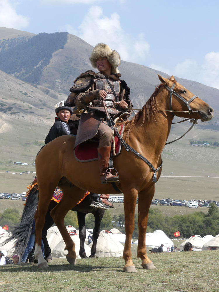 Cavalier mongol au World Nomad Games