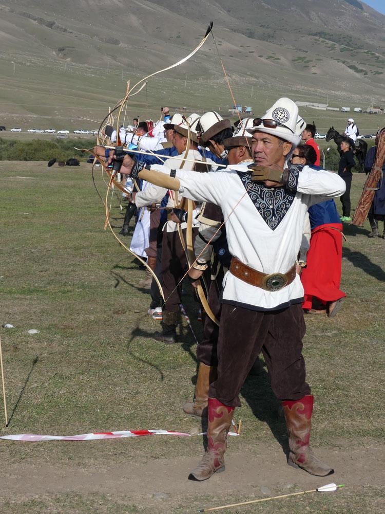Archers au Kirghizistan
