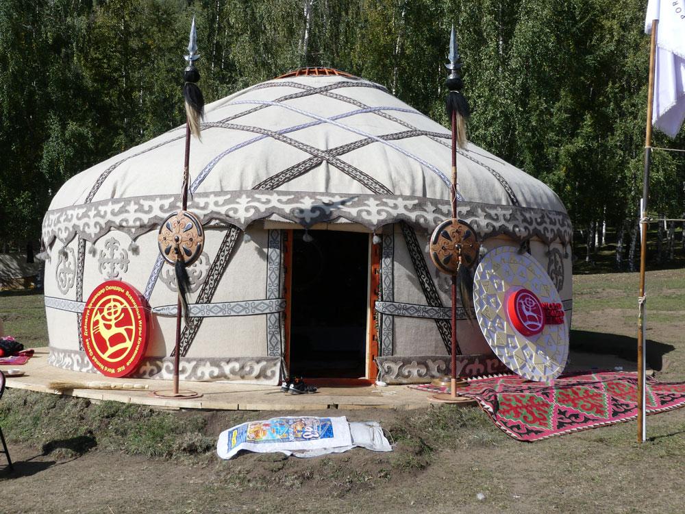 Yourte en Asie Centrale